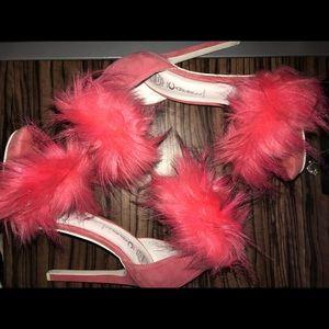 Jeffery Campbell faux fur heels